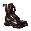 ROCKY-10 Burgundy Rub-Off Leather