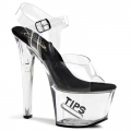 TIPJAR-708-5 Clear/Black